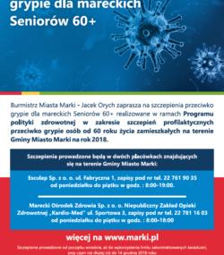 Bezpłatne szczepienie przeciwko grypie 60+